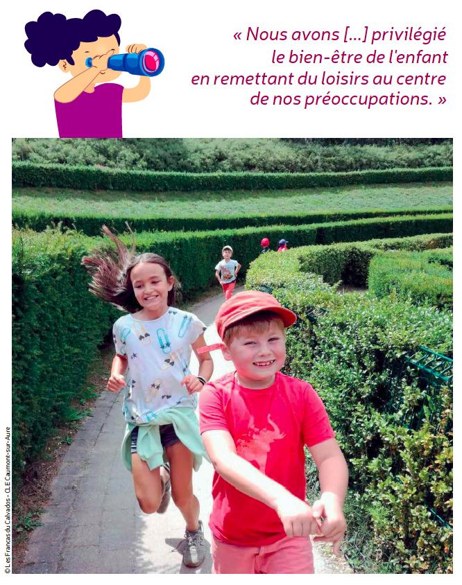 Expression d'un directeur de centre de loisirs éducatif - Photos Francas du Calvados - Caumont-sur-Aure