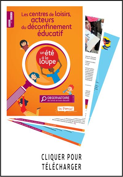 Suivre le lien pour télécharger le rapport de l'observatoire des centres de loisirs éducatifs