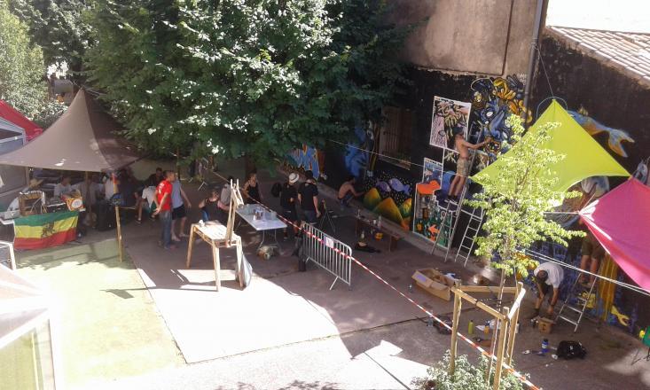 Cloture du festival: Création d'une fresque géante