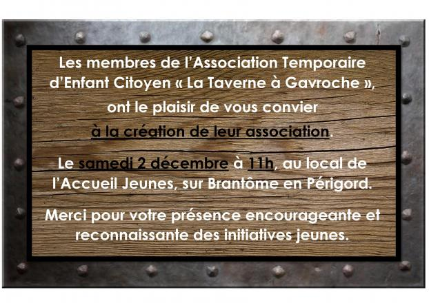 "invitation à l'AG constitutive de l'ATEC ""La Taverne à Gavroche"""