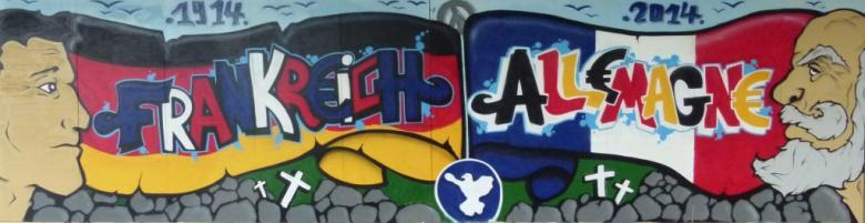 Graf franco-allemand réalisé au sein de l'atelier graffiti